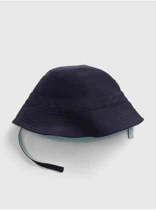 Baby klobouk recycled reversible swim bucket hat Modrá