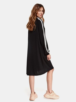 Černé volné mikinové šaty TOP SECRET
