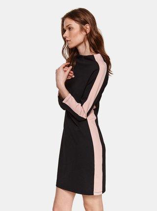 Černé šaty s lampasem TOP SECRET