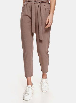 Hnědé zkrácené kalhoty TOP SECRET