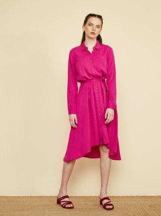 Růžové košilové šaty ZOOT Colly