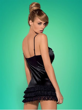 Košilka Blackbella chemise - Obsessive černá