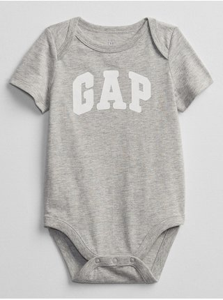 Baby body GAP Logo bodysuit, 3ks Šedá