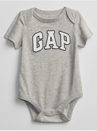 Baby body GAP Logo bodysuit Šedá