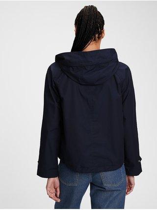 Modrá dámská bunda cropped anorak
