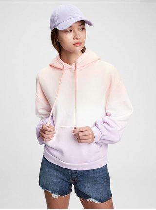 Fialová dámská mikina vintage soft balloon sleeve hoodie