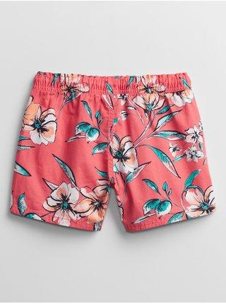 Růžové holčičí dětské kraťasy v-woven opp short