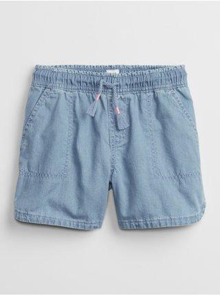 Modré holčičí dětské kraťasy v-woven opp short