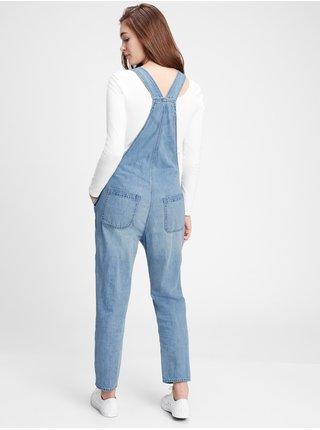 Modré dámské džíny s laclem v-slouchy overall lt ingrid dest