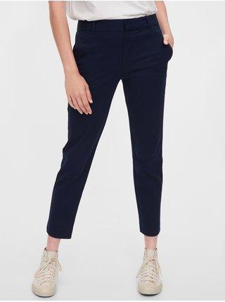 Modré dámské kalhoty slim ankle pants