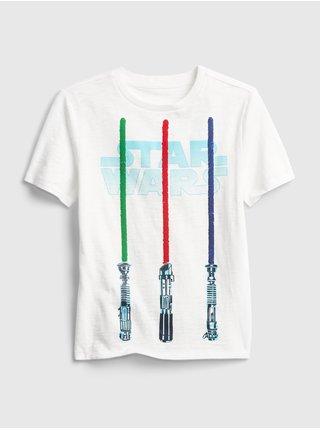 Bílé klučičí dětské tričko Star Wars
