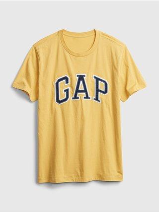 Žluté pánské tričko GAP Logo bas arch