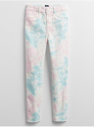 Detské džínsy tie-dye legging Farebná