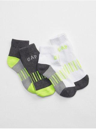 Barevné klučičí dětské ponožky crew socks, 2 páry