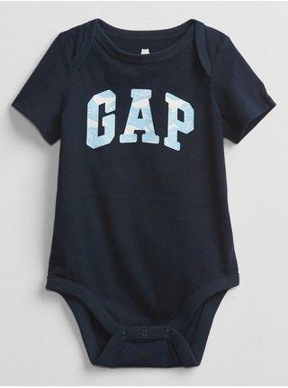 Baby body GAP Logo bodysuit Modrá