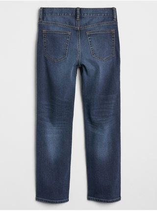 Modré klučičí dětské džíny v-straight med