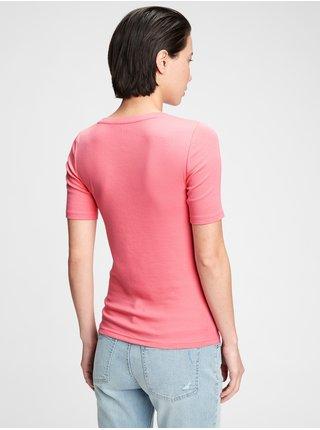 Růžové dámské tričko modern