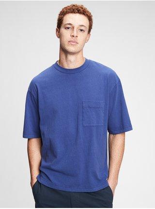 Modré pánské tričko ss overszed