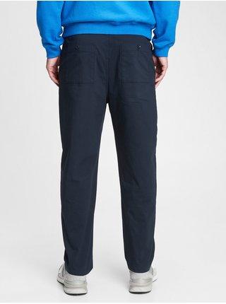 Modré pánské kalhoty carrot fit pull-on khaki