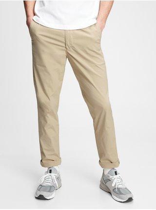 Nohavice slim easy e-waist pants in GapFlex Béžová
