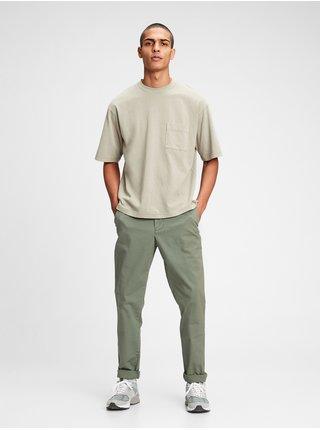 Nohavice slim easy e-waist pants in GapFlex Zelená