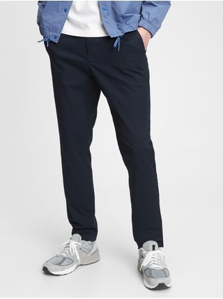 Nohavice slim easy e-waist pants in GapFlex Modrá