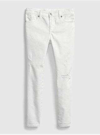 Bílé holčičí dětské džíny super skinny ankle with stretch