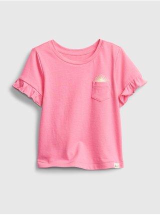 Detské tričko ruffle t-shirt Ružová