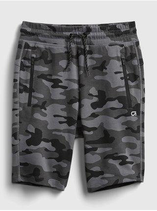 Černé klučičí dětské teplákové kraťasy gapfit fit tech shorts