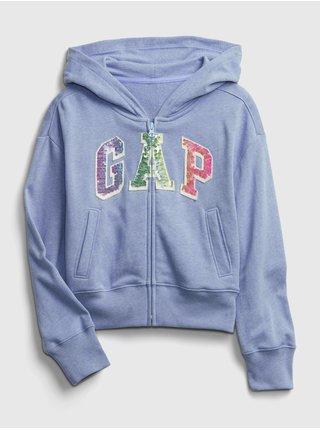Detská mikina GAP Logo hoodie Modrá