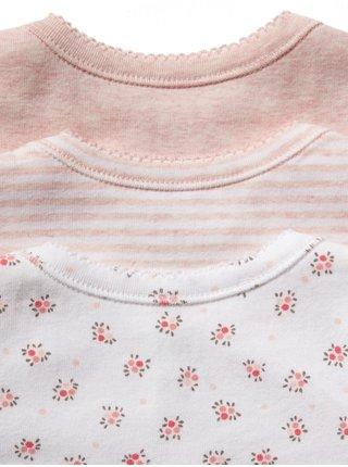 Baby body first favorite floral short sleeve bodysuit, 3ks Farebná