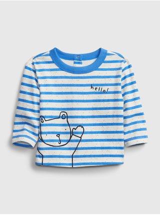 Baby tričko stripe t-shirt Modrá