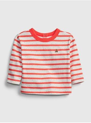Červené klučičí baby tričko nep stripe ls top