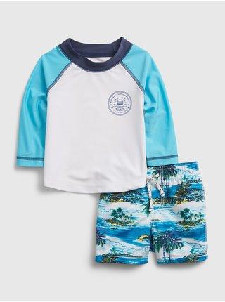 Modré klučičí baby plavky ol feb swim set