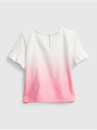 Baby tričko GAP Logo dip-dye t-shirt Farebná