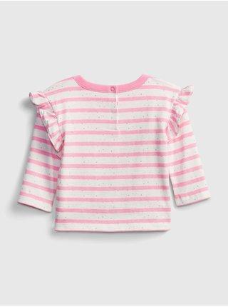 Baby tričko brannan knit Ružová