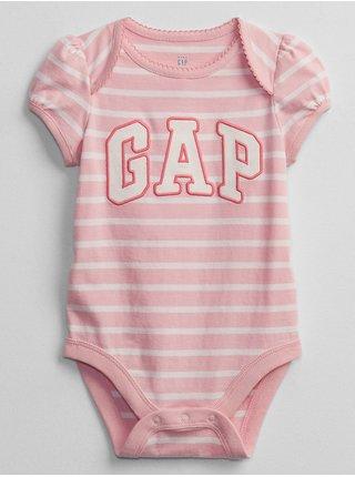 Baby body GAP Logo bodysuit Ružová