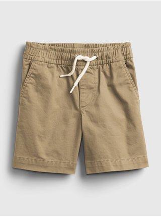 Béžové klučičí dětské kraťasy poplin pull-on shorts
