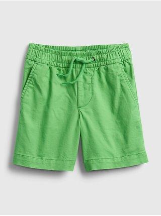 Zelené klučičí dětské kraťasy poplin pull-on shorts
