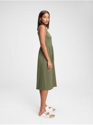 Šaty sleeveless dress Zelená