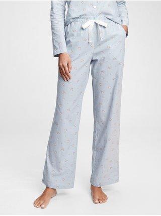 Modré dámské pyžamové kalhoty pajama pants