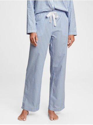 Modré dámské pyžamové kalhoty poplin pajama pants
