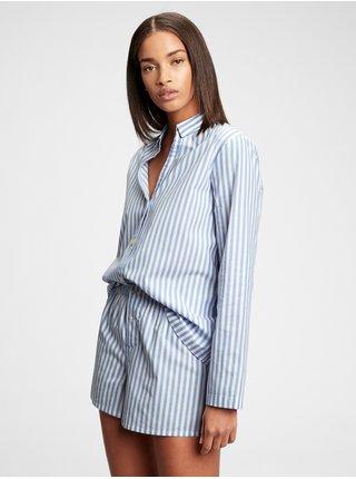 Košeľa na spanie pajama in poplin Modrá