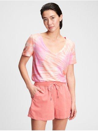 Růžové dámské tričko ss org vint vn