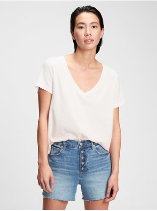 Tričko organic vintage tie-dye v-neck t-shirt Ružová