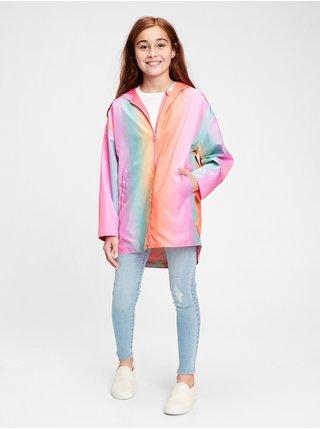 Detská bunda ombre rainbow rain jacket Farebná