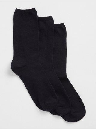 Modré dámské ponožky basic crew socks, 3 páry