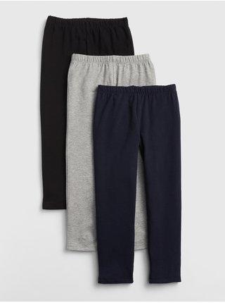 Barevné holčičí dětské legíny capri in stretch jersey, 3ks