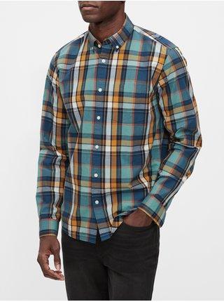 Modrá pánská košile v-fa 20 untucked ls poplin