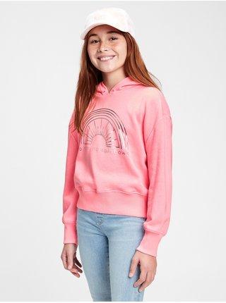 Růžová holčičí dětská mikina gr slouchy po